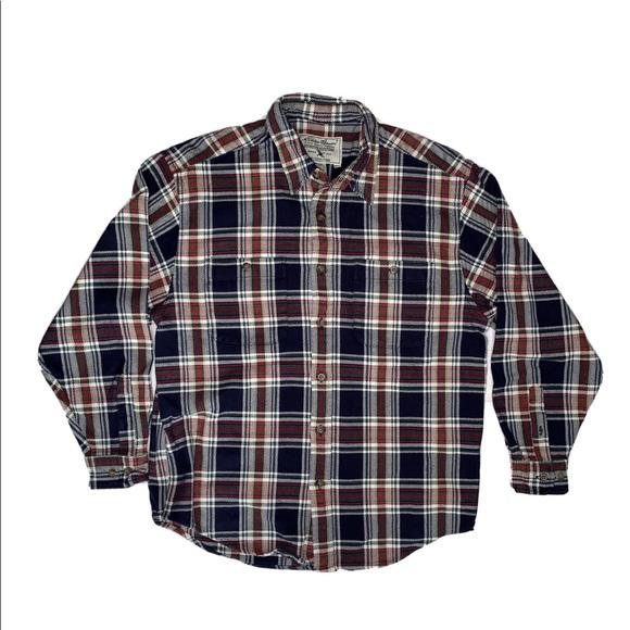 Men's Eddie Bauer Heavy Plaid Flannel Shirt